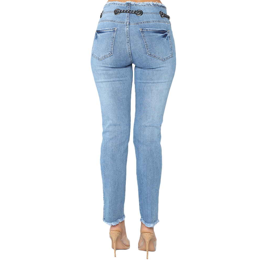 Hole Ripped Jeans Women Pants Cool Denim Vintage Skinny Jeans High Waist Lady Casual Pencil Pants Female Slim Jeans Trousers D40