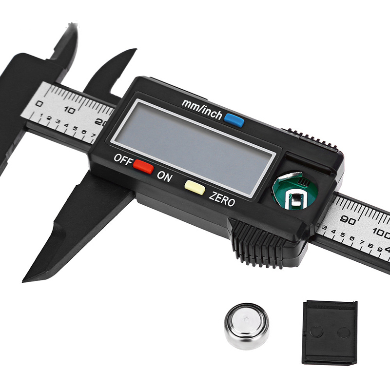 0 150mm Electronic Digital Vernier Caliper Carbon Fiber Vernier Caliper Gauge Micrometer Hand Measuring Tool Hand Tool Set in Calipers from Tools