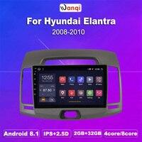 2G RAM 32G ROM 9 Inch Android 8.1 Car Gps Player For Hyundai ELANTRA korea 2008 2010 Radio Video Navigation