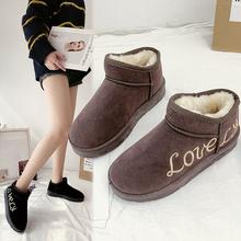 W-удобные женские ботиночки; Новинка; зимняя бархатная теплая хлопковая обувь; Студенческая модная трендовая Уличная Повседневная зимняя обувь