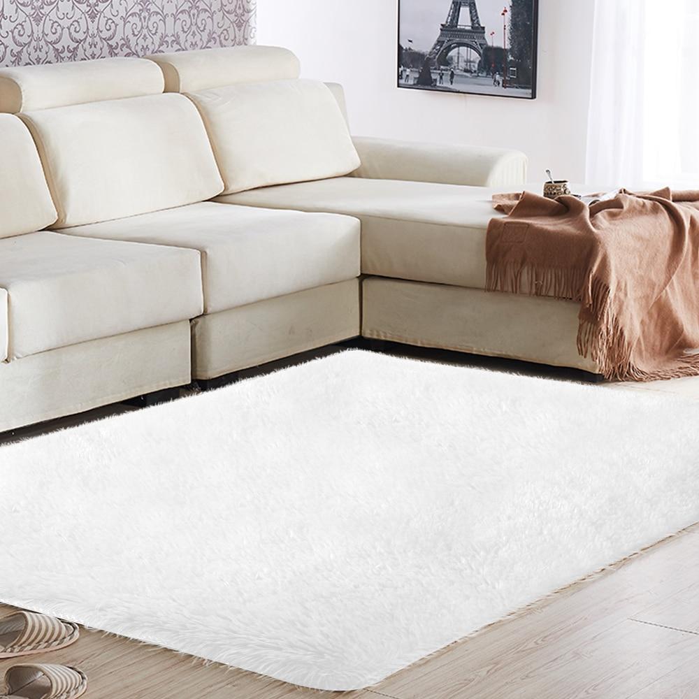 Tapis sol tapis moelleux tapis de sol anti-dérapant chaud Shaggy 160x230cm Polyester Fiber multicolore maison tapis décoration chambre
