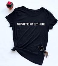 Whiskey Is My Boyfriend T-shirt PU27