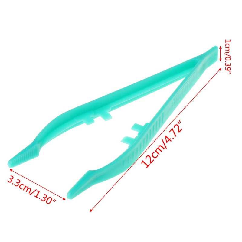 Novo réptil alimentação pinças alicate braçadeira de plástico alimentador clipe não deslizamento terrário suporte do navio da gota