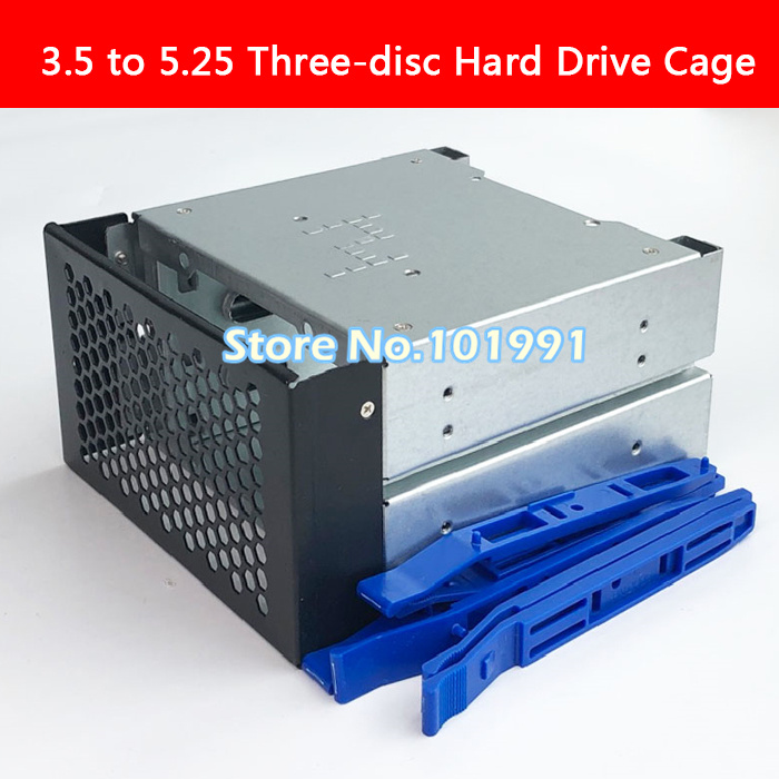 3.5 To 5.25 Three-disc Hard Disk Cages 2 Chassis Drives In The Chassis 3.5-inch Hard Disk Box Iron Computer Storage Expansion