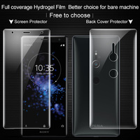 Imak Transparent Hydrogel Film for Sony Xperia XZ2 Back Screen Protector 3D Full Cover for Sony Xperia XZ2 Protector