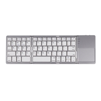 Mini Folding Keyboard Bluetooth Foldable Wireless Keypad with Touchpad for Windows,Android,Ios Tablet Ipad Phone
