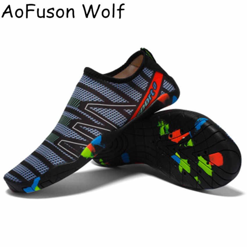 Barefootรองเท้าUnisexรองเท้าผ้าใบรองเท้าชายหาดAqua Surfแห้งเร็วรองเท้าแตะต้นน้ำLightรองเท้ากีฬา