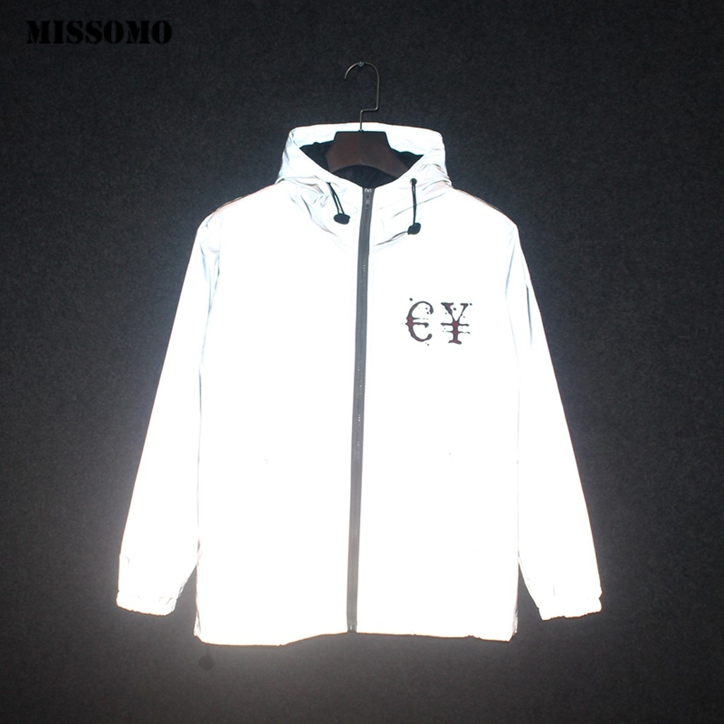 JAYCOSIN Reflective Jacket Men/women Coat Harajuku Windbreaker Jackets Streetwear Plus Size Loose Bomber Jacket Dropshipping 89
