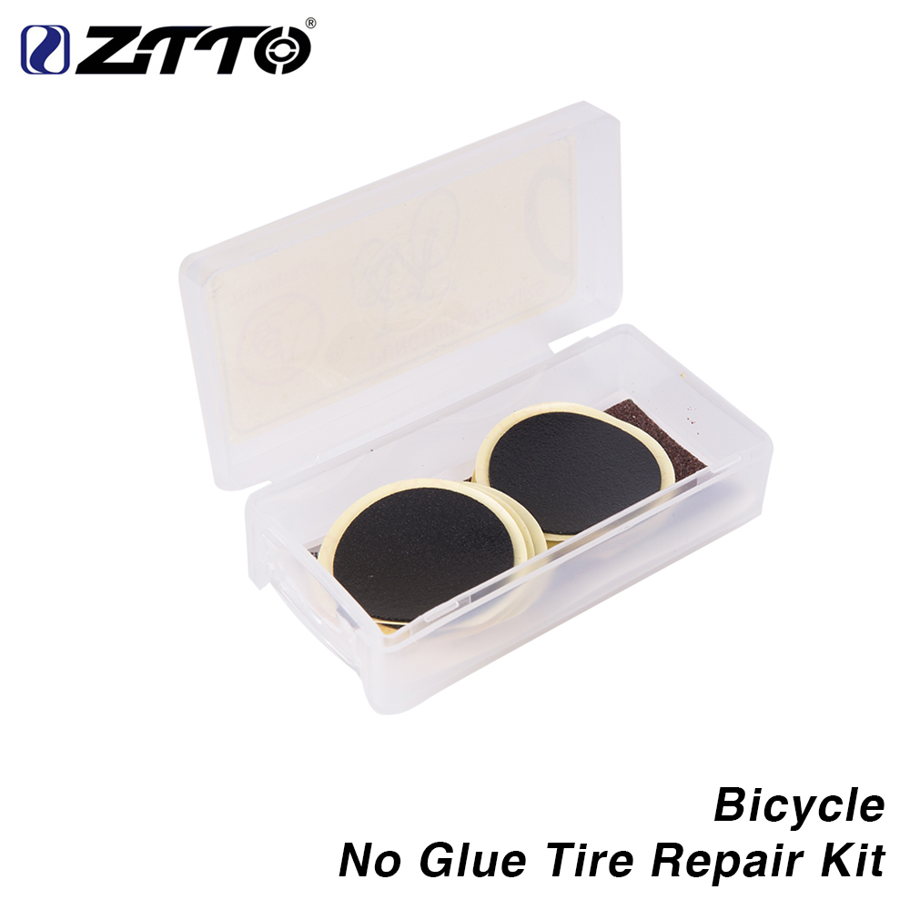 Bicycle No Glue Tire Repair Kit Piece Tyre Patches Tool Sets Glueless Patch for Mountain Road Bike Inner Tube <font><b>26</b></font> 29 700c 27.5 image
