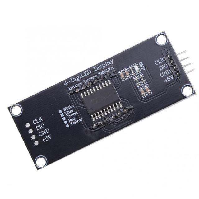 LED Module de Tube daffichage 4 chiffres 7 segments couleur daffichage blanc convient pour Arduino utilisation bibliothèque TM1637.h pratique