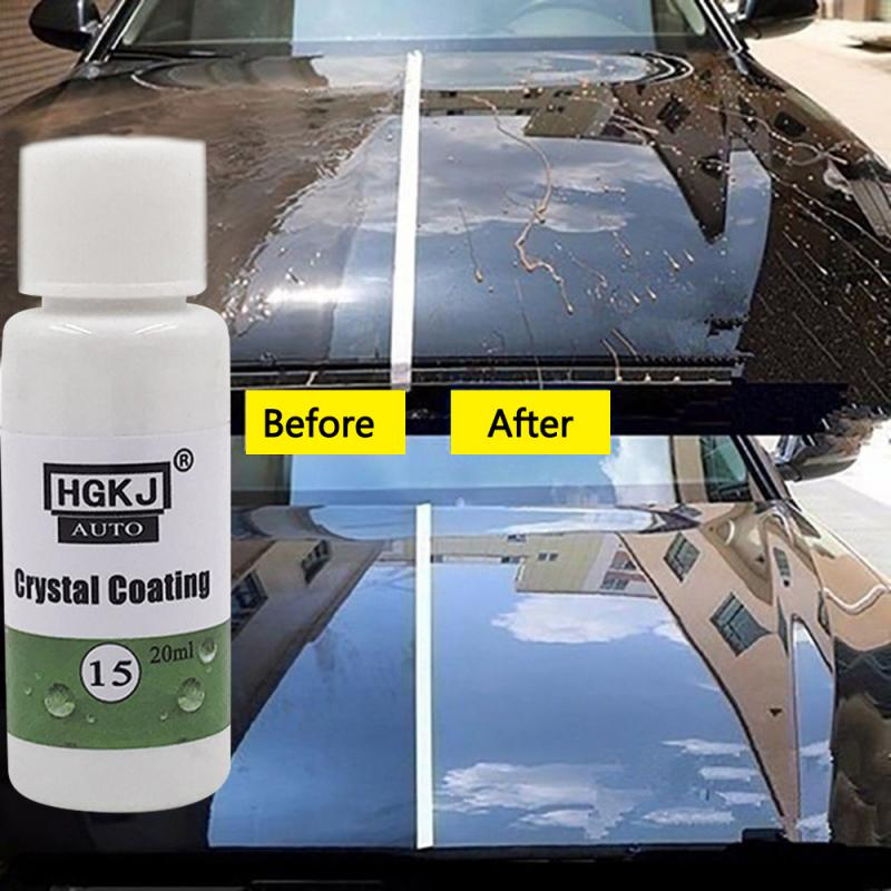 HGKJ-15 20ML Waterproof Coating Cleaning Glass Car Window Cleaner Scratch Repair Agent Hydrophobic Coating Car Accessories TSLM1