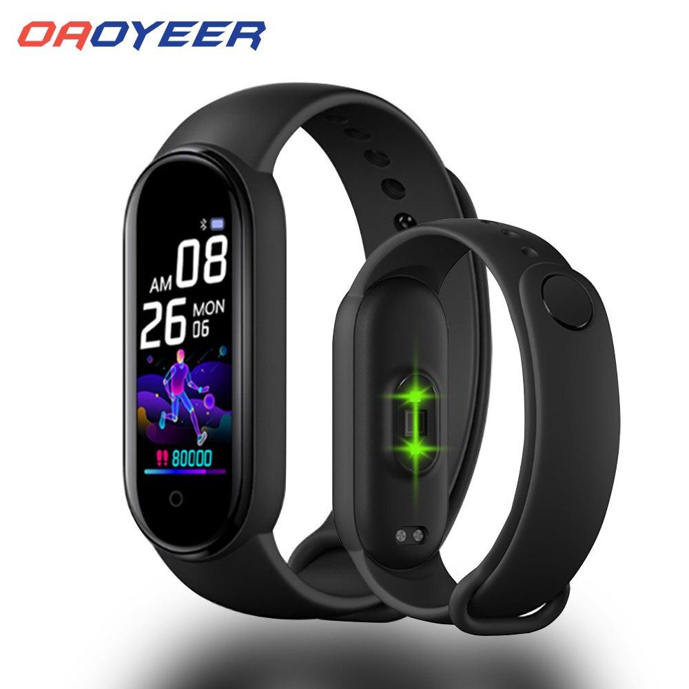 Смарт браслет Oaoyeer M5, спортивный смарт браслет, пульсометр, артериальное давление, смарт браслет, Bluetooth, пульсометр, Смарт часы MI5|Смарт-браслеты|   | АлиЭкспресс