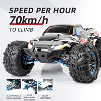 Scala 1:10 2.4G RC auto telecomando ad alta velocità Off Road Car 4WD 70 km/h camion Brushless Rc carrelli modello giocattoli per bambini regalo
