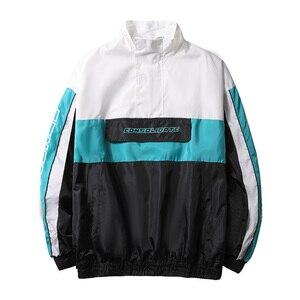 Image 4 - Męskie kurtki Anorak mężczyźni hip hop znosić wiosna Sport wiatrówka Casual Outdoor mężczyźni jesień płaszcz jesienny Streetwear Top 5XL