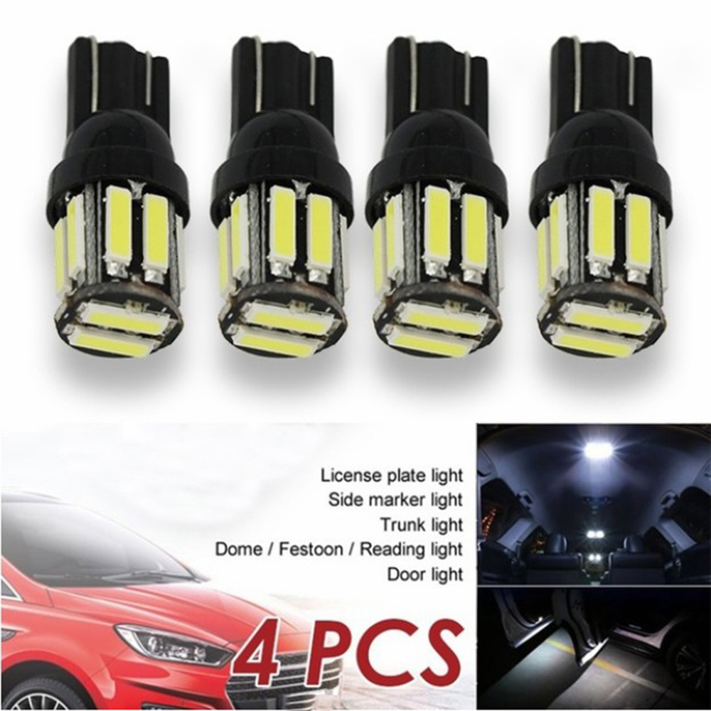 4 Stuks Auto Vervanging Licht T10 10 Smd W5W 194 168 Led Canbus Foutloos Side Wedge Light Bulb Lamp accessoires