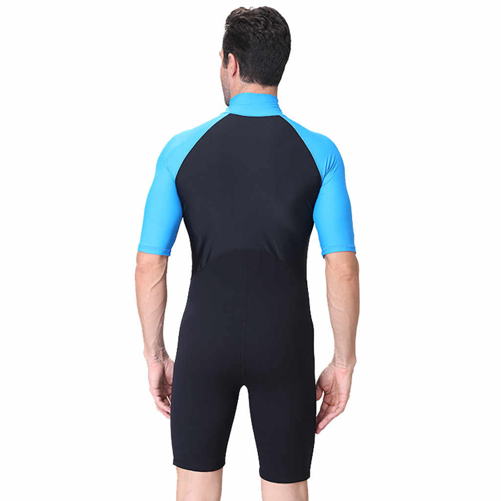 En Çok Satan Sörf Erkek Wetsuits dalgıç kıyafeti Erkekler Mayo Yeni Neopren erkek Geri Zip Shorty Yüzmek Wetsuit Tüplü Döküntü Bekçi # F