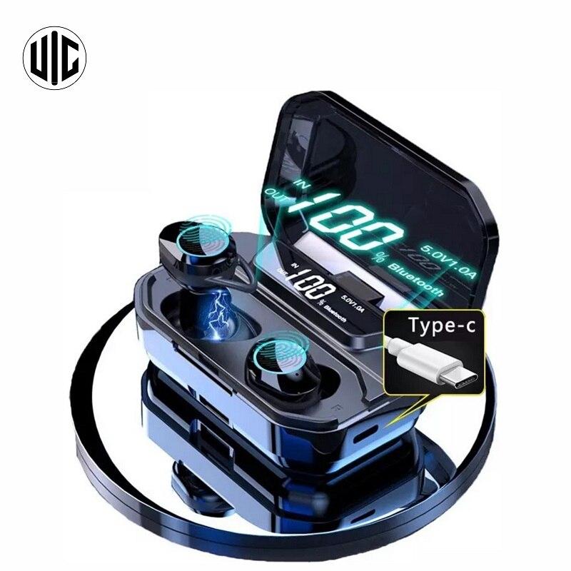 Беспроводные Bluetooth-наушники G02 V5.0 со светодиодный кой, TWS-наушники с сенсорным управлением, Спортивная гарнитура с шумоподавлением, наушники