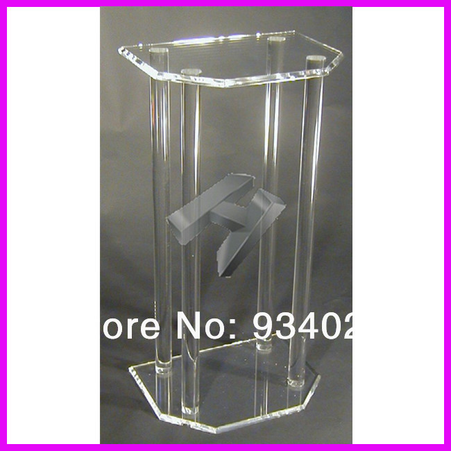 Clear Perspex Dails, Acrylic Organic Glass Church Pulpit Lectern Plexiglass