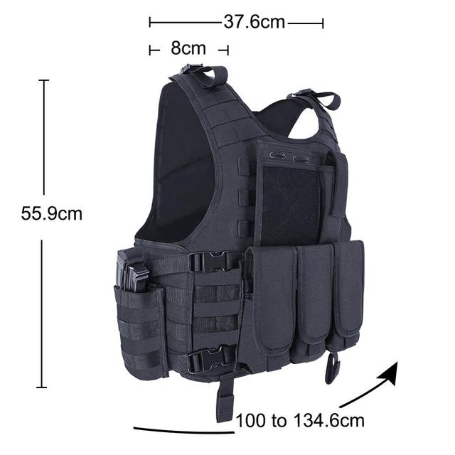 MGFLASHFORCE Molle Airsoft Vest Tactical Vest Plate Carrier Swat Fishing Hunting Vest Military Army Armor Police Vest 3