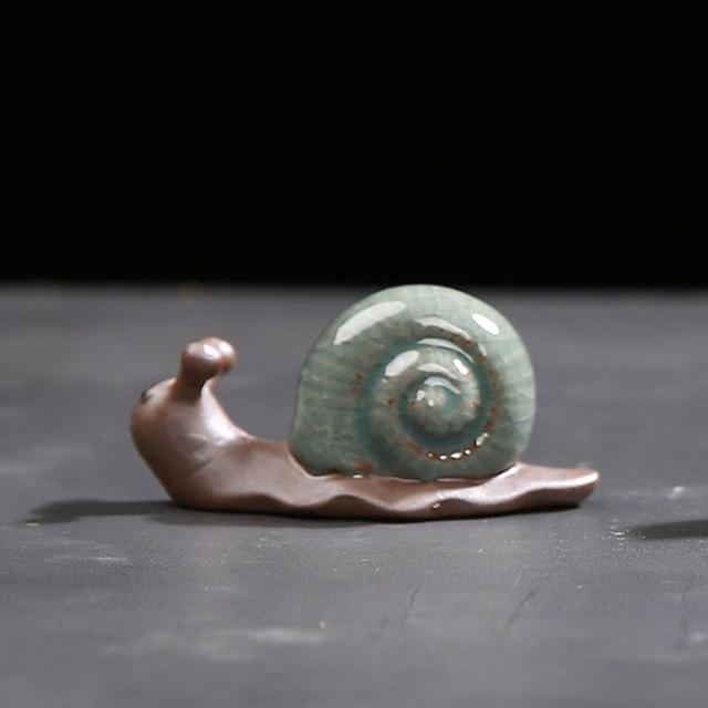 Mini Ceramic Crafts Creative Home Crafts Figurines Miniatures Tea Pet Bonsai Small Decoration Home Garden 2