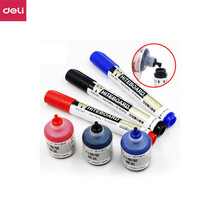 Ink-Set Erasable Whiteboard-Marker-Pen Dry-Erase-Markers Office-Supplies Black Deli Blue