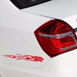 Image 3 - Yiwa ที่ไม่ซ้ำกัน Tiger Flame Totem รถสะท้อนแสงสติกเกอร์รถสติกเกอร์