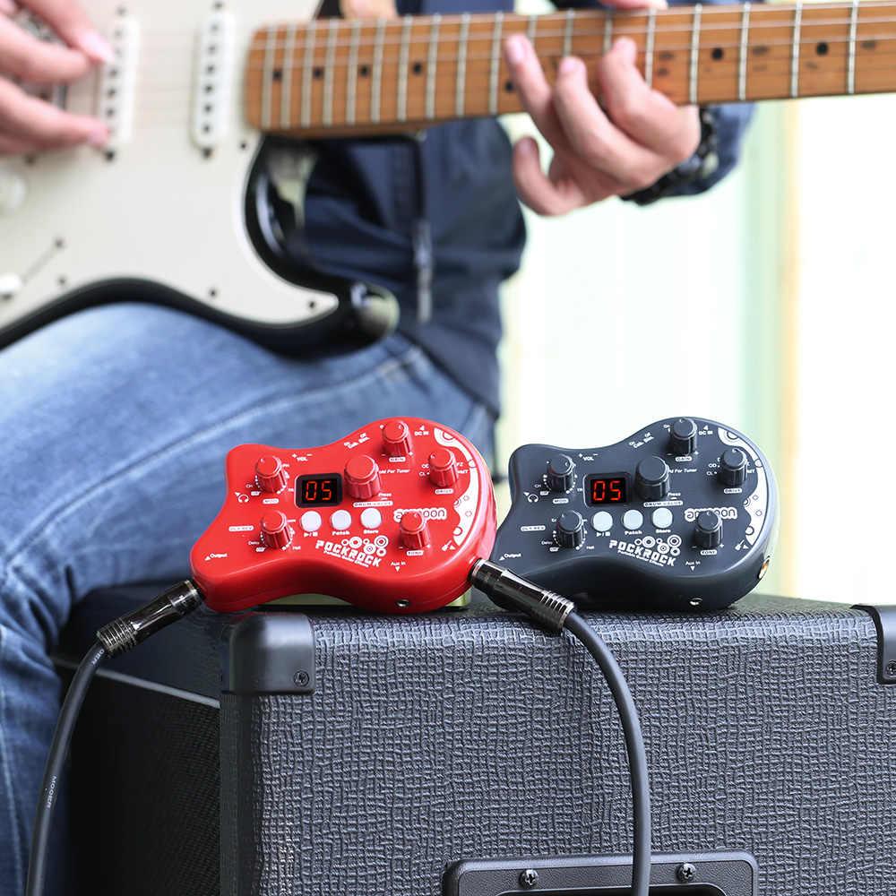 Ammoon PockRock Tragbare Gitarre Multi-effekte Prozessor Wirkung Pedal 15 Wirkung Arten 40 Trommel Rhythmen Tuning Funktion