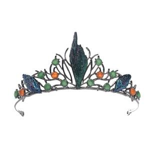 Image 5 - HIMSTORYm Độc Đáo Xanh Dương Xanh Cosplay Rừng Quốc Chi Nhánh Tóc Vương Miện Nữ Con Công Tối Cuộc Thi Trang Sức Phụ Kiện Tóc
