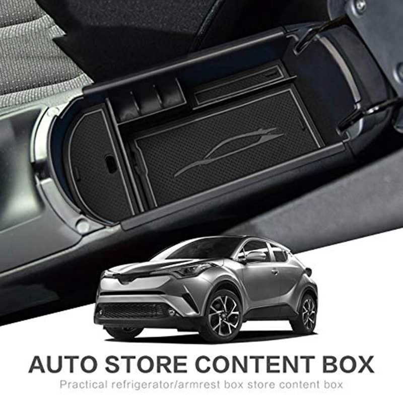 Car Styling Accessories Plastic Interior Armrest Storage Box Organizer Case Container Tray for Toyota C-Hr Chr 2016 2017 2018