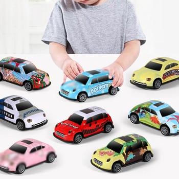 20 Pcs/set Hot Cartoon Mini Pull Back Car Toy Mold Alloy Car Vehicles Diecast Children Pocket Toys Model Nursery Birthday Gift фото