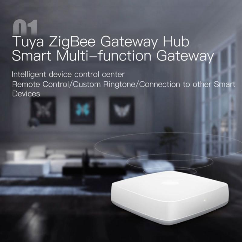 tuya zigbee gateway hub ZB-HUB intelligent gateway DIY local area network smart home system compatible with wifi tuya smart life