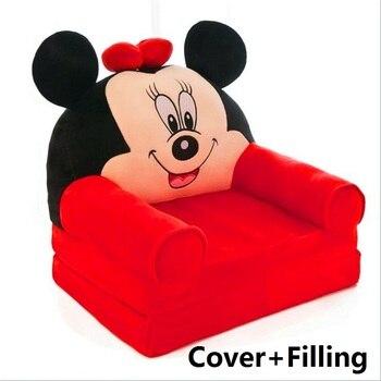 Faltbare Baby Kinder Cartoon Crown Sofa Sitz Kinder Prinzessin Stuhl Ordentlich Puff Haut Kinder Faul Rückenlehne Plüsch Sitze Kissen