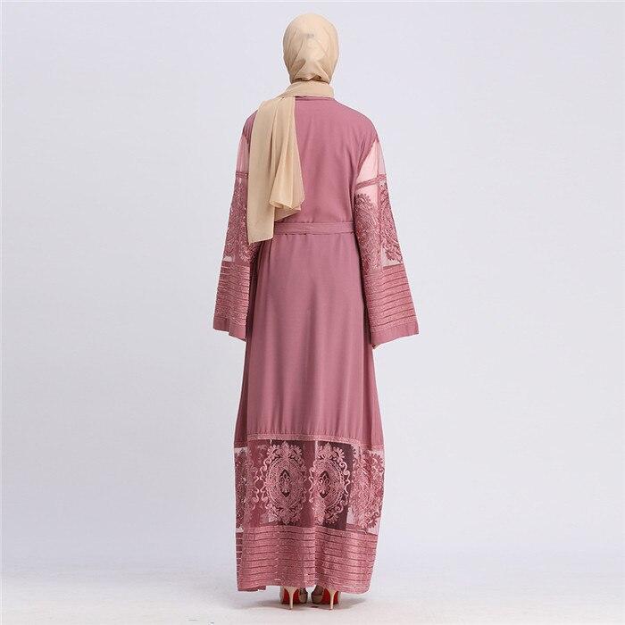 2019 Abaya Cardigan lace Velvet Muslim Hijab Dress Turkish Islamic Clothing Robe Dubai Caftan Abayas For Women Bangladesh Kaftan