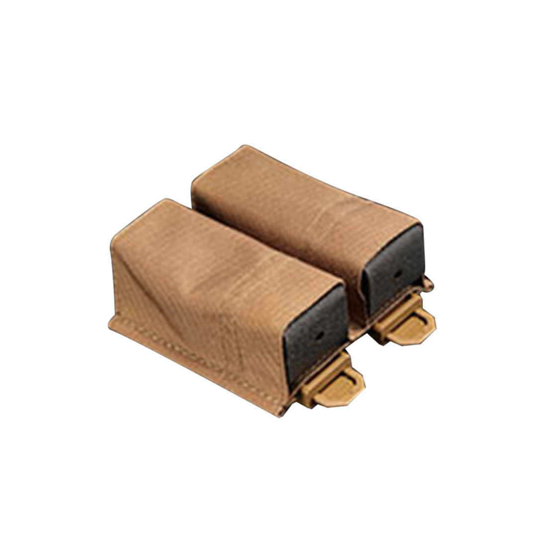 RELOADED AMMO/RA ESSTAC KYWI Type Tactical Quick Release 9mm Double Magazine Pouch - CB