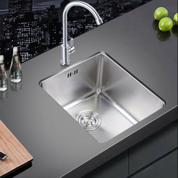 51x45x26 cm Stainless Steel Inset Square Kitchen Sink Single Bowl Inset/Topmount