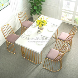 Customizable Golden Modern Iron Chair Lounge Barstools Simple Restaurant Cafe Bar Stool  Nordic Dining Room Chairs
