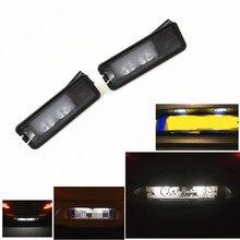цена на 2Pcs LED License Number Plate Light Car 12V Led Lamp For Golf 7 MK7 Cabrio Passat B7 3C EOS CC Polo 6R  Scirocco Beetle Amarok