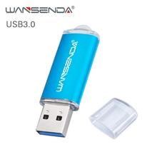 חדש WANSENDA USB 3.0 דיסק און קי 128GB 64GB מתכת עט כונן 32GB 16GB 8GB Pendrive 256GB במהירות גבוהה USB 3.0 זיכרון פלאש מקל