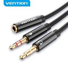 Tions Audio Splitter Kopfhörer Adapter 3,5mm AUX Kabel für Computer 1 Weibliche zu 2 Männlichen Mic Y Splitter Headset zu PC Adapter
