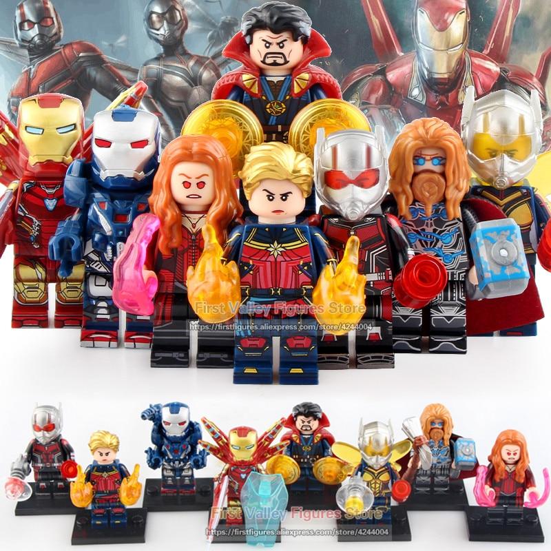 Single Sale Bricks Doctor Strange Thor Antman Wasp Iron Man Scarlet Witch War Machine Captain Marvel Building Blocks Toys WM6063