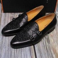 Sommer Herbst Schuhe Herren Loafer Klassische Mönch Gurt Männer Schuhe Aus Echtem Leder Slip auf Kleid Schuhe Hochzeit Casual Business Party