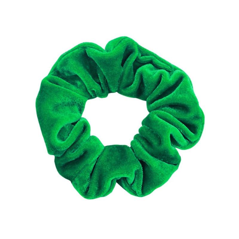 1 шт., женское эластичное кольцо для волос, зимние мягкие бархатные резинки, резинки для волос, милые одноцветные аксессуары для волос, держатель для конского хвоста - Цвет: 22