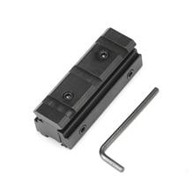 Rail Base 11mm Dovetail to 20mm Weaver Picatinny Mount Adapter Converter цены онлайн