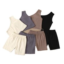 baby girl clothes set Kids Ruffle Sleeve Tank Top and Skirt Outfits for Girl Clothing kids yoga set