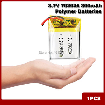 3.7V 300mAh Rechargeable li Polymer Li-ion Battery For bluetooth headset mp3 MP4 speaker mouse recorder 072025 702025 image