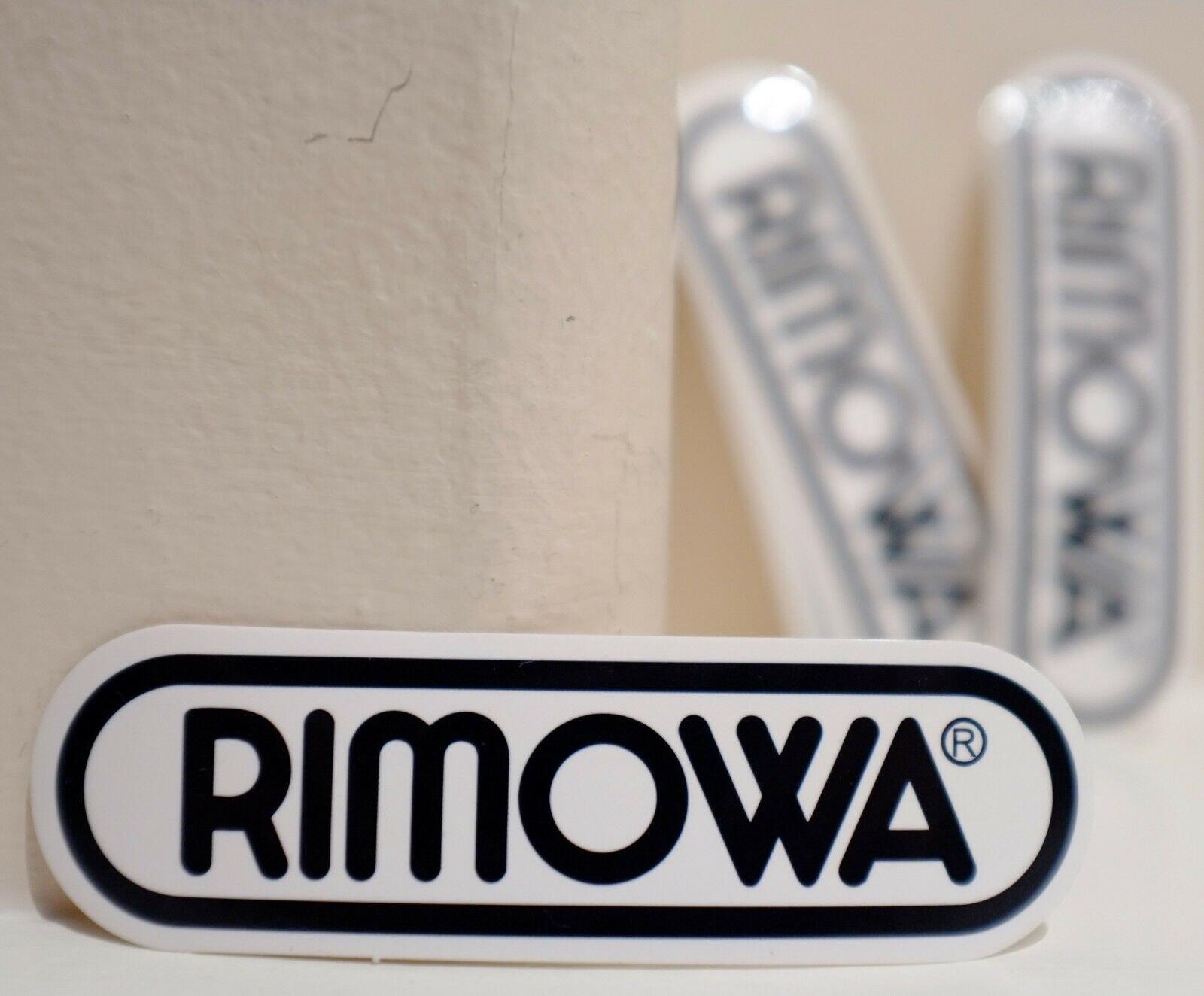 Para rimowa etiqueta de bagagem preta logotipo adesivo decalque impermeável
