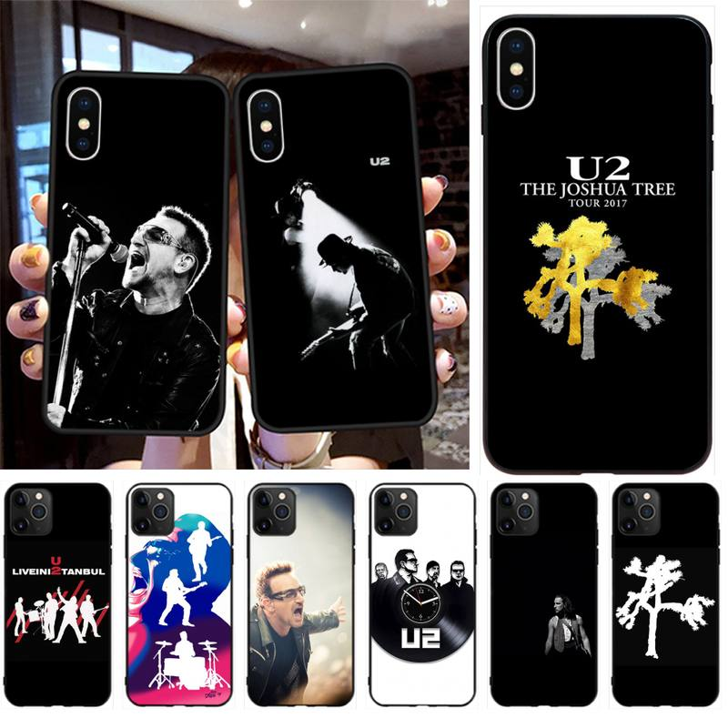 CUTEWANAN bono U2 Band Bling Cute Phone Case for iPhone 11 pro XS MAX 8 7 6 6S Plus X 5S SE 2020 XR case image