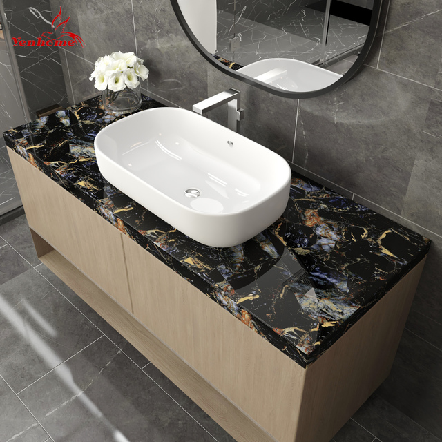 Waterproof Marble Self Adhesive Wallpaper Vinyl Film Wall Stickers Bathroom Kitchen Cupboard Room Decoration Sticky Paper Decal 2
