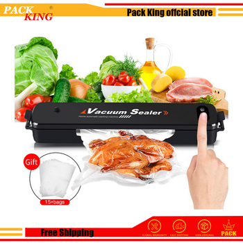 Food Vacuum Sealer Vacuum Bag Sealing Machine Electric Vaccum Pouch Packaging Machine Fish Fruit Meat Packer With 15pc Bags Free