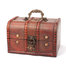 Case-Holder Storage-Container Jewellery Wood Box-Case Craft Chest Treasure Pirate Vintage